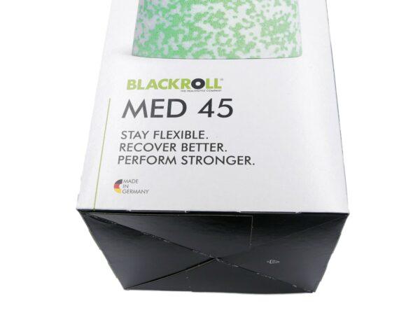 BLACKROLL® MED 45 Faszienrolle Karton vorne unten