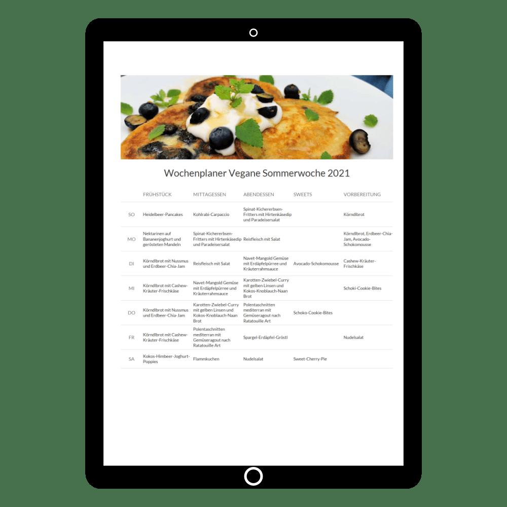 Kochbuch Vegane Sommerwoche 2021